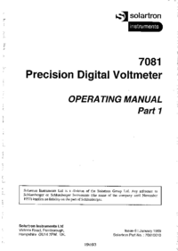 User Manual Solartron 7081