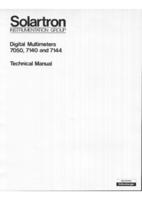 Service and User Manual Solartron 7054