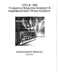 manuel de réparation Solartron 1255