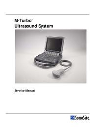 Manuale di servizio Sonosite M-Turbo™