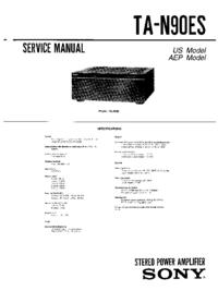 Service Manual Sony TA-N90ES