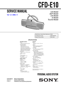 Service Manual Sony CFD-E10