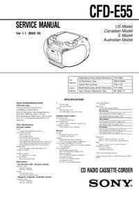 Schéma cirquit Sony CFD-E55