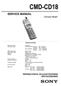 Serviceanleitung Sony CMD-CD18