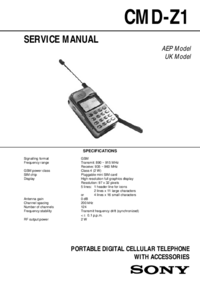 Manual de servicio Sony CMD-Z1