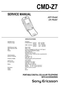 Manual de serviço Sony CMD-Z7