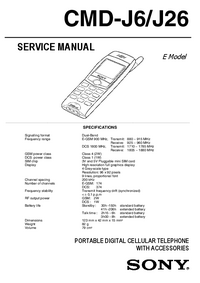 Service Manual Sony CMD-J26
