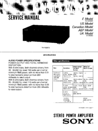 Service Manual Sony TA-N330ES