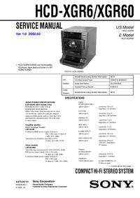 Serviceanleitung Sony HCD-XGR60