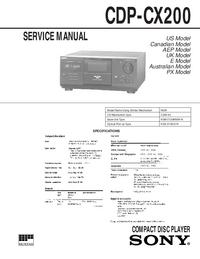 Service Manual Sony CDP-CX200