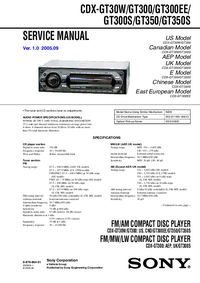 Manual de servicio Sony CDX-GT300EE