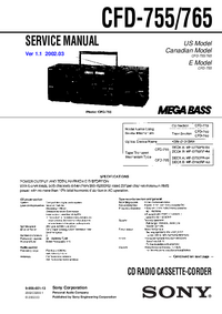 Service Manual Sony CFD-765