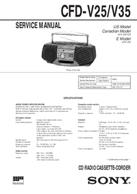 Manual de servicio Sony CFD-V25