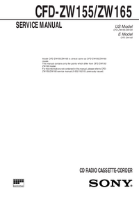 Service Manual Sony CFD-ZW155