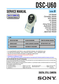 Servicehandboek Sony DSC-U60