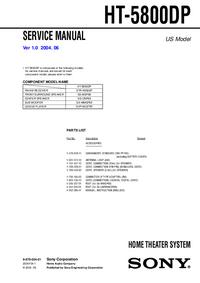 Manual de servicio Sony HT-5800DP