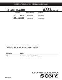 Serviceanleitung Sony KDL-40D3000