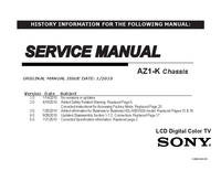 Manual de servicio Sony AZ1-K
