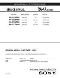 Service Manual Sony KP-61XBR300
