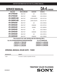 Service Manual Sony KV-29DRC430