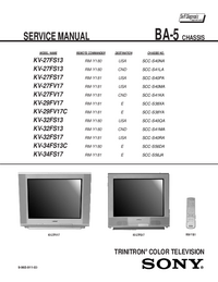 Service Manual Sony KV-29FV17C