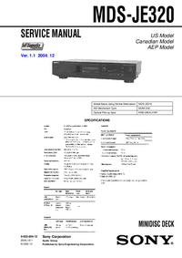 Manual de servicio Sony MDS-JE320