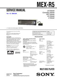 Service Manual Sony MEX-R5