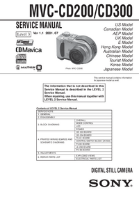 Service Manual Sony MVC-CD300