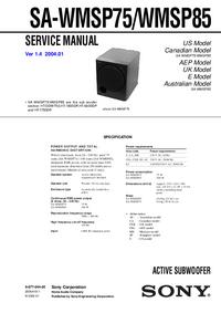 Instrukcja serwisowa Sony SA-WMSP75