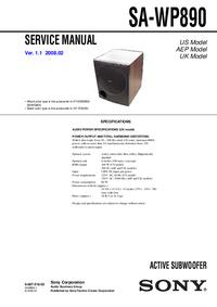 Instrukcja serwisowa Sony SA-WP890