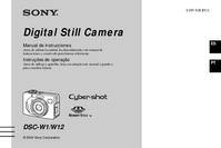 User Manual Sony DSC-W1