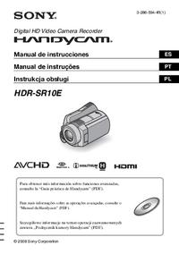 Manual de servicio Sony HDR-SR10E