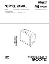 manuel de réparation Sony KV-ES29M90