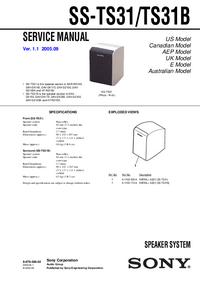 Service Manual Sony SS-TS31B