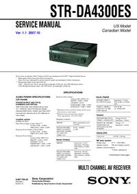 Manual de serviço Sony STR-DA4300ES