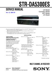 manuel de réparation Sony STR-DA5300ES