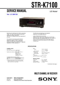 Руководство по техническому обслуживанию Sony STR-K7100