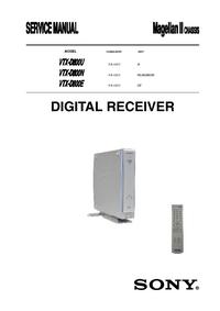 Instrukcja serwisowa Sony VTX-D800U