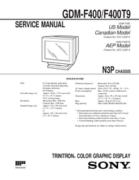 Manual de servicio Sony GDM-F400
