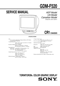 Service Manual Sony GDM-F520