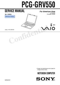 Manuale di servizio Sony PCG-GRV550