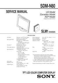 Service Manual Sony SDM-N80