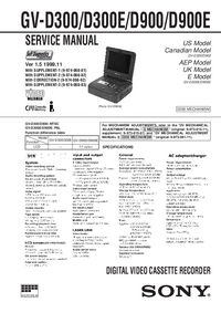 Service Manual Sony GV-D900