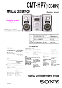 Service Manual Sony CMT-HP7