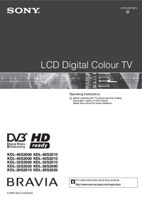 Manual del usuario Sony KDL-26S2000