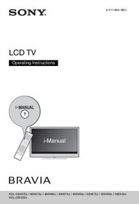 User Manual Sony KDL-40HX75x