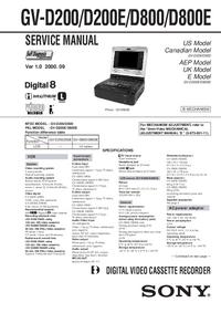 Service Manual Sony GV-D200E