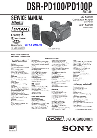 Service Manual Sony DSR-PD100