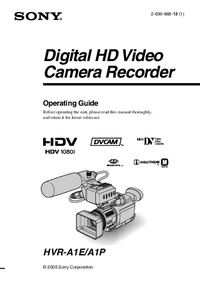 User Manual Sony HVR-A1P