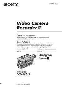 Instrukcja obsługi Sony CCD-TR517